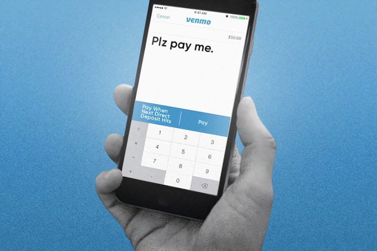 A phone showing the Venmo app open to the payment screen
