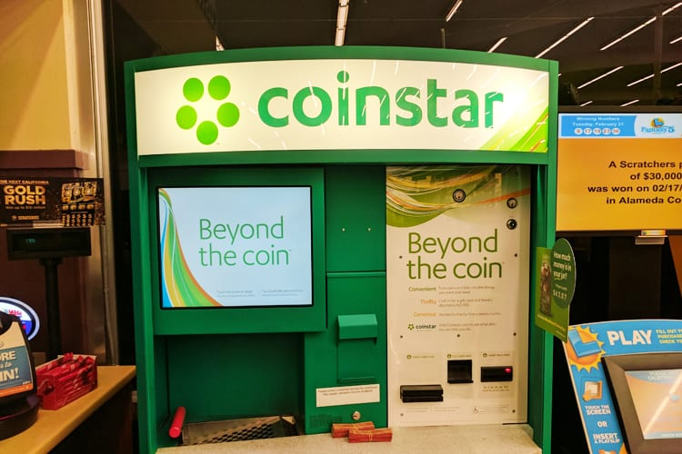 Coinstar machine at a grocery store