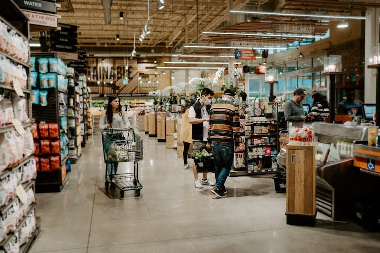 The interior of a Whole Foods in Austin, TX