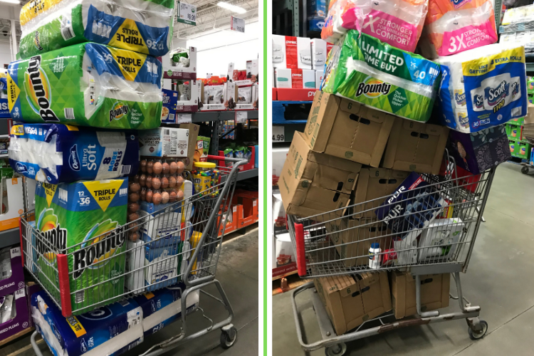 Overfilled Shopping Carts